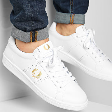 Fred Perry - Baskets B8321 Leather White