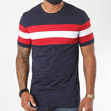 Aarhon - Tee Shirt 13879 Tricolore Bleu Marine