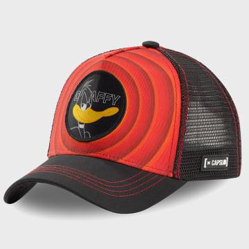 Capslab - Casquette Trucker Daffy Noir Rouge