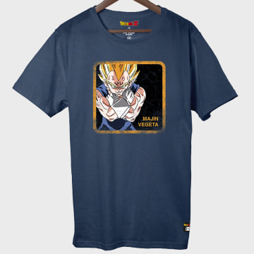 Capslab - Tee Shirt Majin Vegeta Bleu Marine
