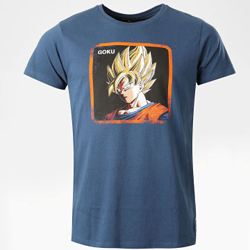 Capslab - Tee Shirt Goku Bleu Marine