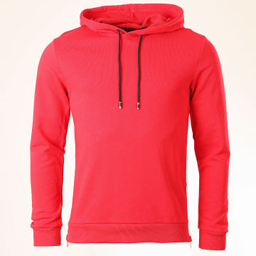 Aarhon - Sweat Capuche Oversize 13872 Rouge