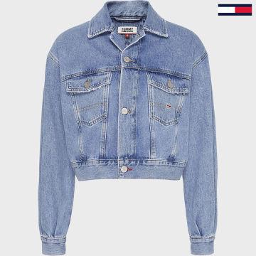 Tommy Jeans - Veste Jean Femme Crop Trucker 7901 Bleu Denim