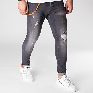 Uniplay - Jean Skinny 295 Gris Anthracite