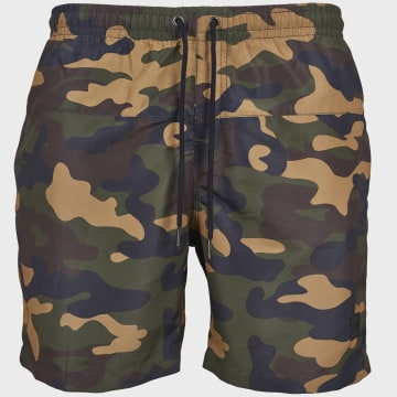 Urban Classics - Short De Bain TB2053 Camouflage Vert Kaki