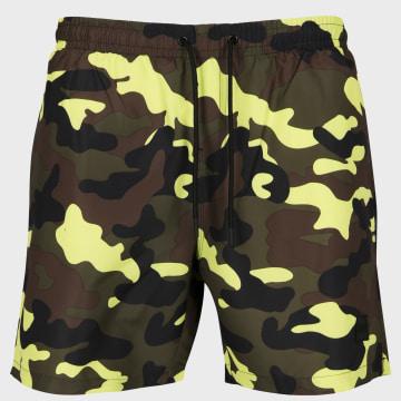 Urban Classics - Short De Bain TB2053 Camouflage Jaune