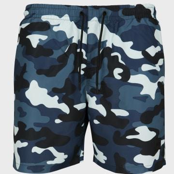 Urban Classics - Short De Bain TB2053 Camouflage Bleu
