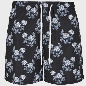 Urban Classics - Short De Bain TB2679 Floral Noir