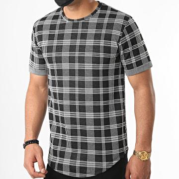 Frilivin - Tee Shirt 13898 Noir Carreaux