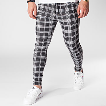 Frilivin - Pantalon A Carreaux 23898 Noir Blanc