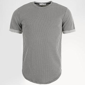 Frilivin - Tee Shirt 13897 Carreaux Noir Blanc