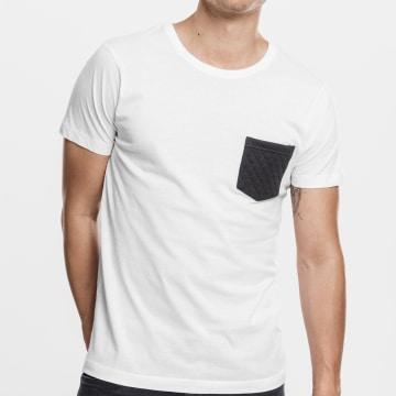 Urban Classics - Tee Shirt Poche TB1222 Blanc Noir