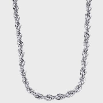 California Jewels - Collier Rope Argenté