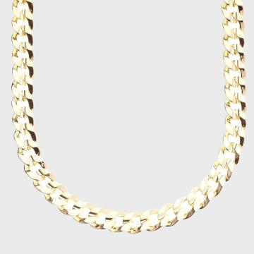 California Jewels - Collier Hip Hop Curb Doré