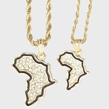 California Jewels - Lot De 2 Pendentifs Africa Doré