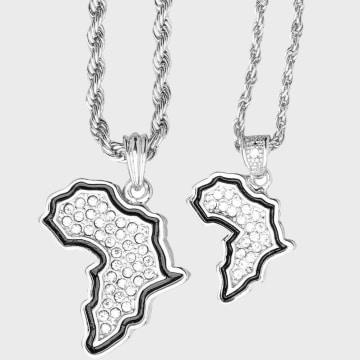 California Jewels - Lot De 2 Pendentifs Africa Argenté