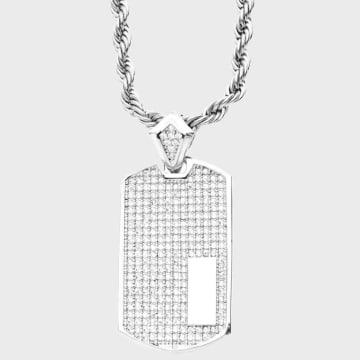 California Jewels - Pendentif Dog Tag Chrome