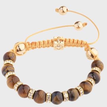 California Jewels - Bracelet Macrame Doré