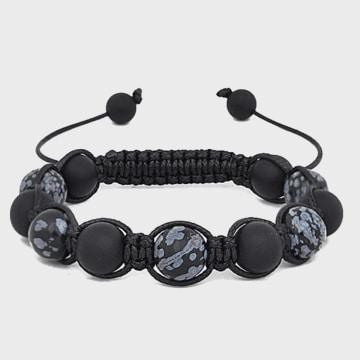 California Jewels - Bracelet Splatter Noir
