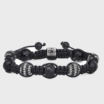 California Jewels - Bracelet Beads Zebra Noir