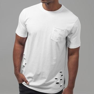 Urban Classics - Tee Shirt Oversize A Poche TB1570 Blanc
