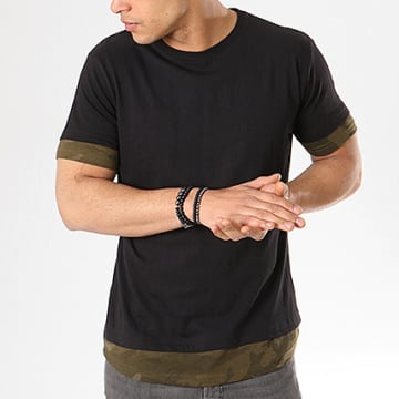 Urban Classics - Tee Shirt Oversize TB1863 Noir Camo Vert Kaki