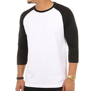 Urban Classics - Tee Shirt Manches Longues TB366 Blanc Noir