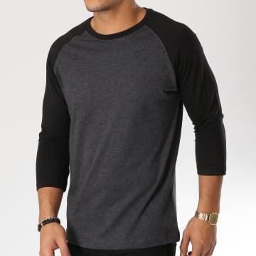 Urban Classics - Tee Shirt Manches Longues TB366 Gris Noir