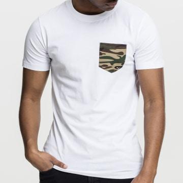 Urban Classics - Tee Shirt Poche TB492 Blanc Camo