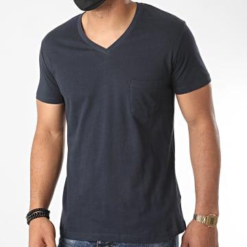 Urban Classics - Tee Shirt Col V TB497 Bleu Marine