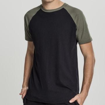 Urban Classics - Tee Shirt TB639 Noir Vert Kaki