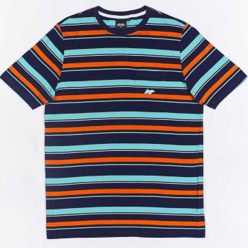 Wrung - Tee Shirt Poche Stripes Bleu Marine