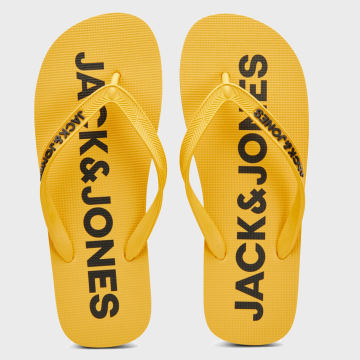 Jack And Jones - Tongs Logo 12169408 Jaune