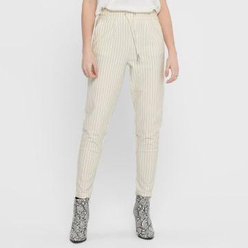 Only - Pantalon Femme Poptrash Easy 15176615 Blanc