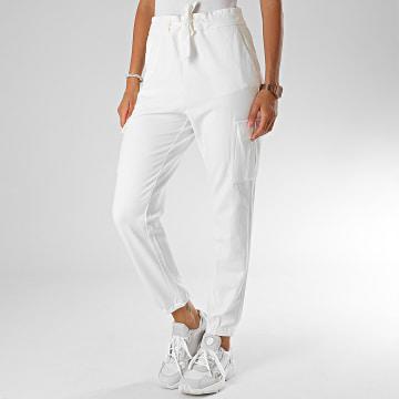 Only - Pantalon Cargo Poptrash 15197448 Blanc