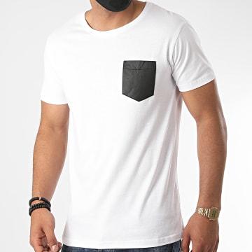 Urban Classics - Tee Shirt Poche TB970 Blanc Noir