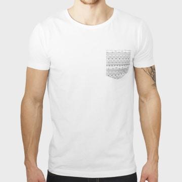 Urban Classics - Tee Shirt Poche TB971 Blanc Aztec