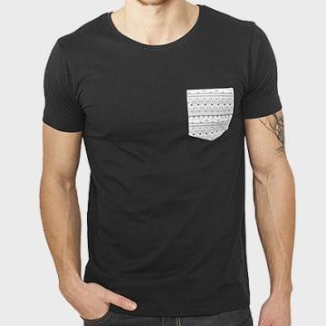Urban Classics - Tee Shirt Poche TB971 Noir Aztec
