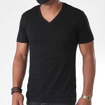 Urban Classics - Tee Shirt Poche Col V TB497 Noir