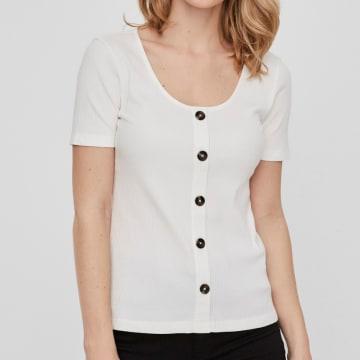 Vero Moda - Top Femme Helsinki 10229727 Blanc
