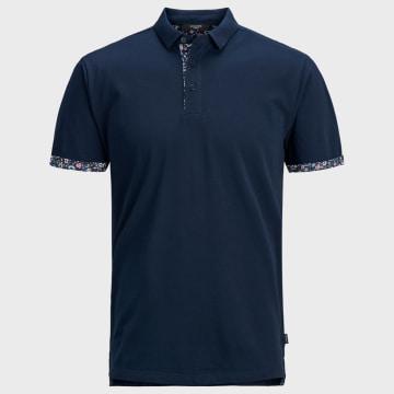 Jack And Jones - Polo Manches Courtes James 12167366 Bleu Marine