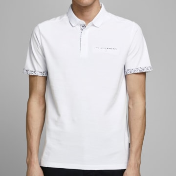 Jack And Jones - Polo Manches Courtes James 12167366 Blanc