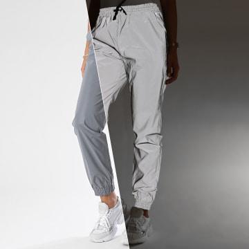 Noisy May - Pantalon Jogging Femme Randy 27011526 Gris Réfléchissant
