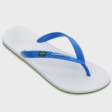 Ipanema - Tongs Classic Brasil II Blanc Bleu