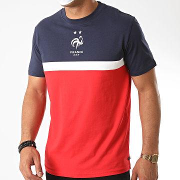 FFF - Tee Shirt France Tricolore Rouge Bleu Marine Blanc