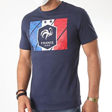 FFF - Tee Shirt Drapeau Fan Bleu Marine