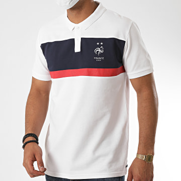 FFF - Polo Manches Courtes France Fan Blanc