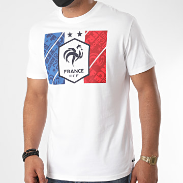 FFF - Tee Shirt Drapeau Fan Blanc
