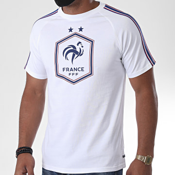 FFF - Tee Shirt A Bandes France Big Logo Blanc