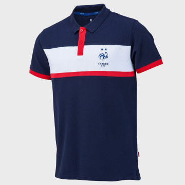 FFF - Polo Manches Courtes France Fan Bleu Marine